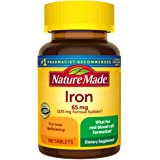 Nature Made Iron 65 mg Tabs, 180 ct (2612)