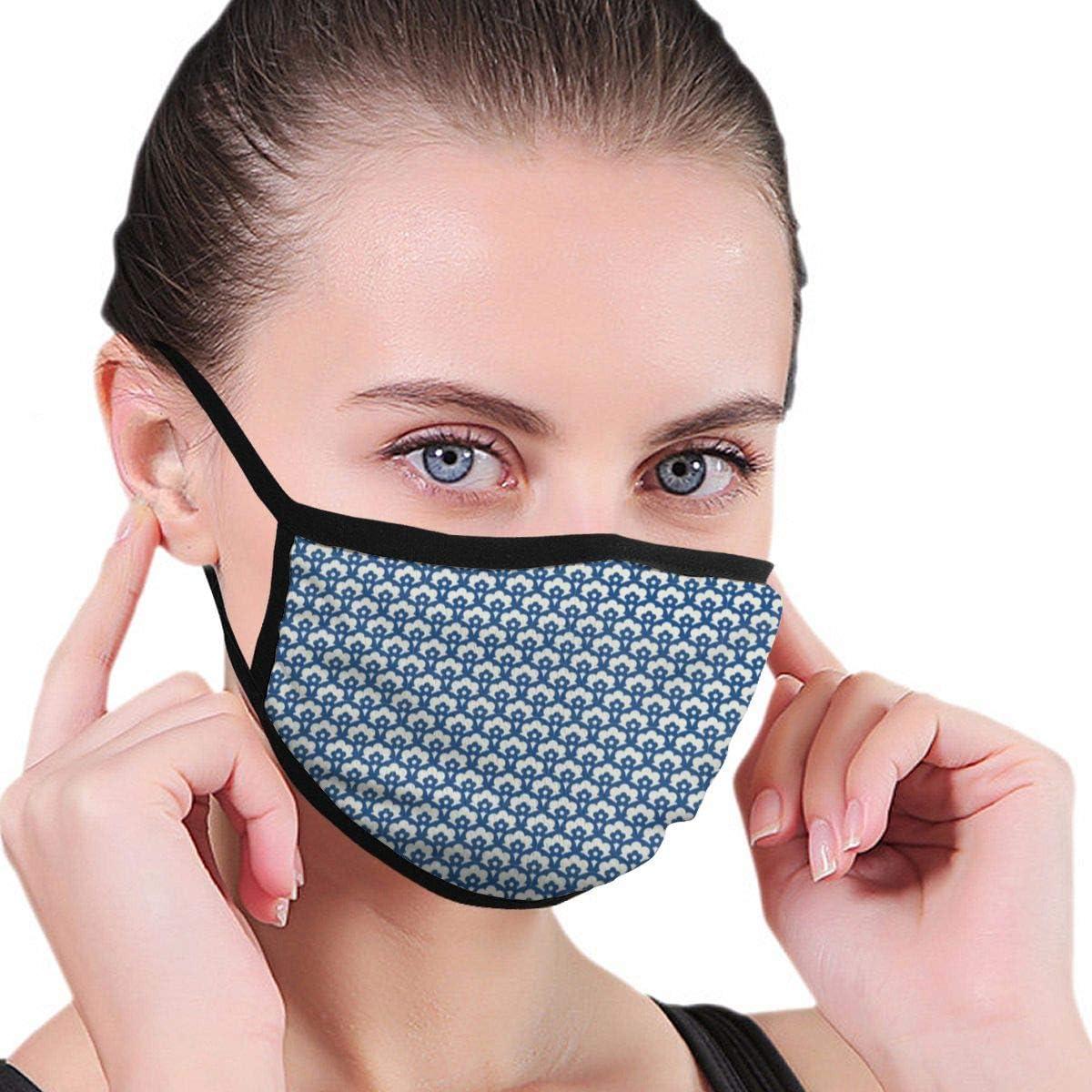 Máscara de protección contra Virus, diseño Retro sin Costuras, con Elementos Florales para protección antivirus y Salud Personal, Antipolvo, máscara Facial