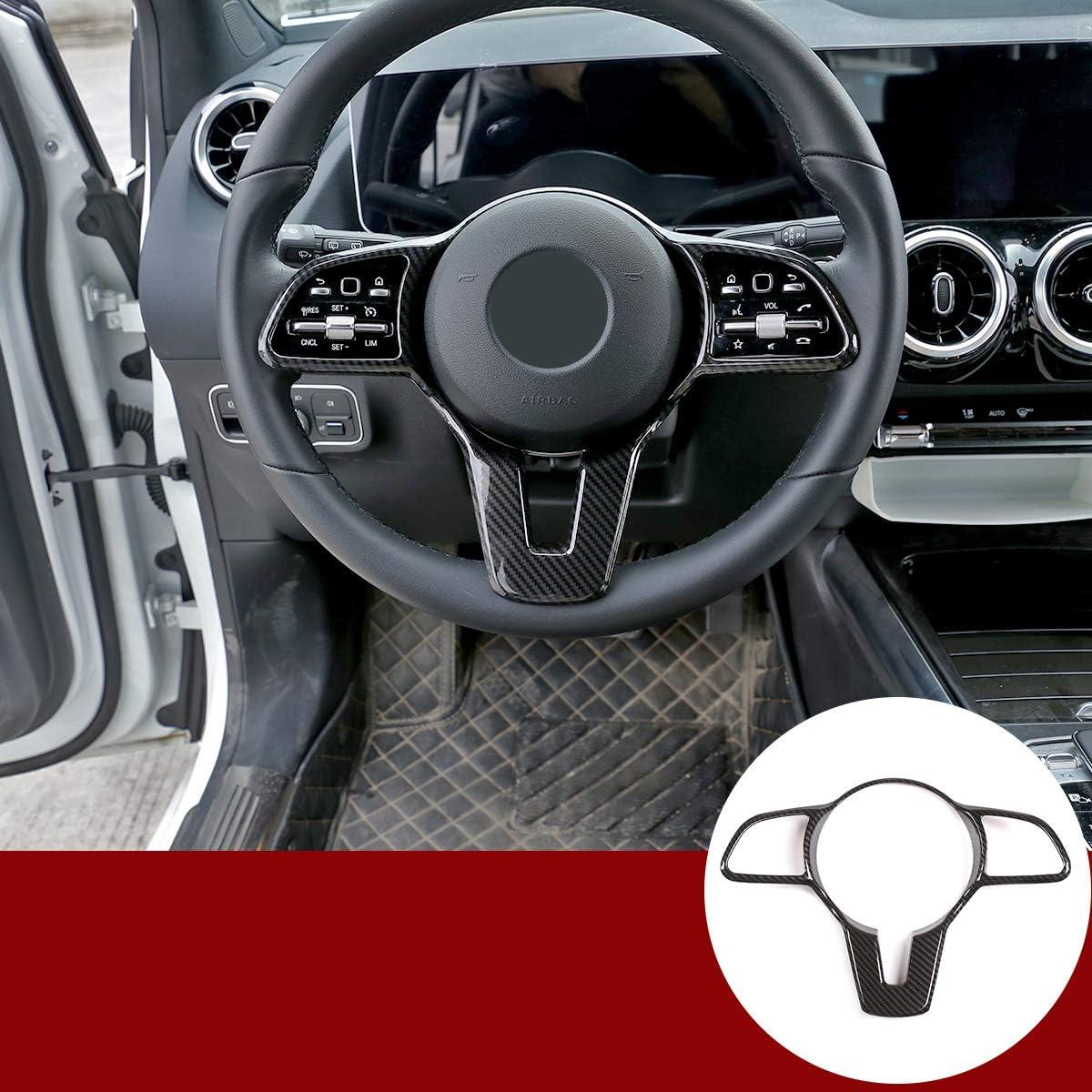 Auto Lenkrad Dekoration Abdeckung Für Benz A B C E G Cla Cls Glc Gle Gls Glb Eqc W177 W247 W205 W213 C257 X253 W167 W463 X247 N293 Zubehör Kohlefaser Auto