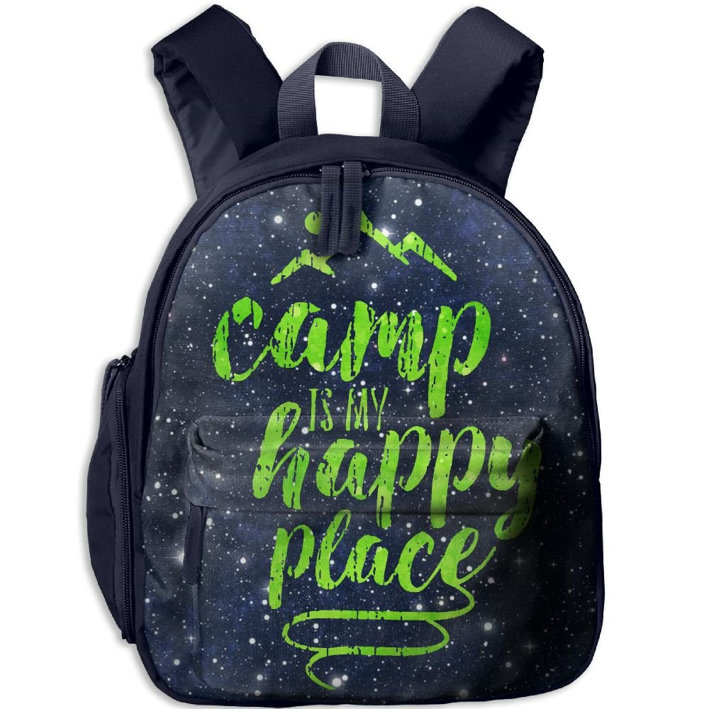 Camp Is My Happy Place Lightweight Cute Durable Cute Kid's Backpack Best For Toddler
