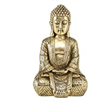 Home Collection Casa Decorazioni Accessori Scultura Statua Buddha Seduto Oro H 30 cm