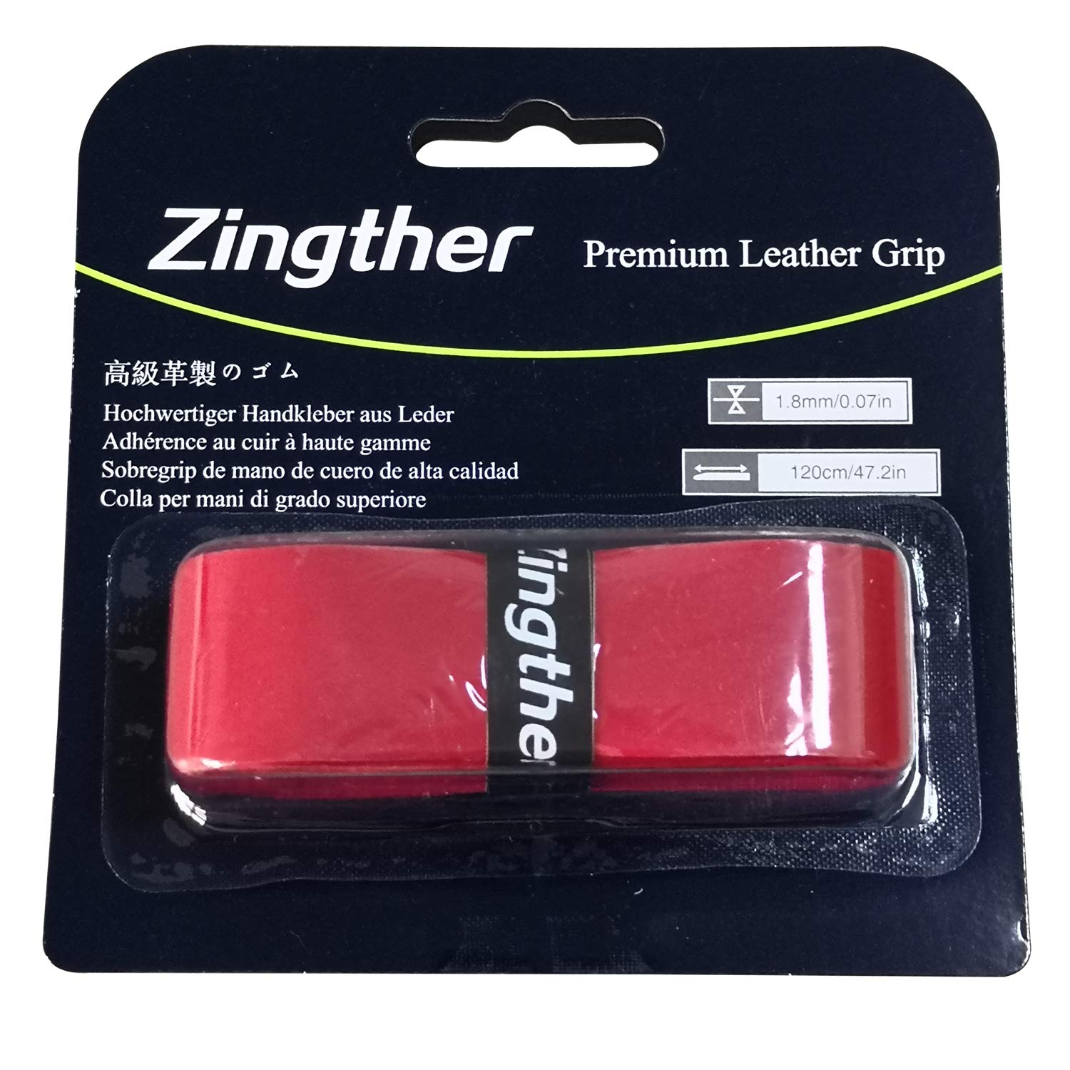 2 Pack of Zingther Premium Leather Replacement Grip Tape 1.8mm Thick Baseball Bat Grip Wrap Tennis Handle Grip with Sticky Adhesive Backing Soft Tacky Comfortable Black or Red Pack of 2 Grips
