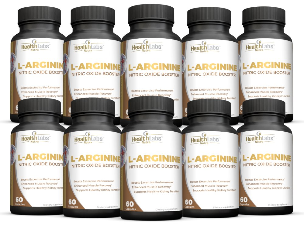 Max Strength L-Arginine -1200mg Nitric Oxide Pre-Workout Supplement with L-Citrulline for Muscle Growth, Endurance, Energy & Vascularity - 10-Month Supply