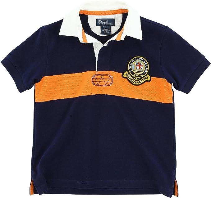 Ralph Lauren Polo 2 2T - Camiseta de Rugby con Escudo de Rayas ...