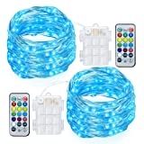 Amazon Price History for:GDEALER 2 Pack Fairy Lights Battery Powered String Lights Multi Color Changing LED String Lights Waterproof 50 Led 16ft RGB Lights with Remote Control for Bedroom Patio Garden Stroller Christmas Tree