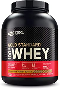 Optimum Nutrition Gold Standard 100% Whey Protein Powder, Chocolate Peanut Butter, 5 Pound (Packaging May Vary)
