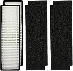 Aliddle Replacement True HEPA Air Purifier Filter B for GermGuardian FLT4825 fit Model AC4825, AC4300, AC4800, AC4850PT, AC4900CA, CDAP4500, 2 HEPA Filter + 4 Carbon Pre-Filters