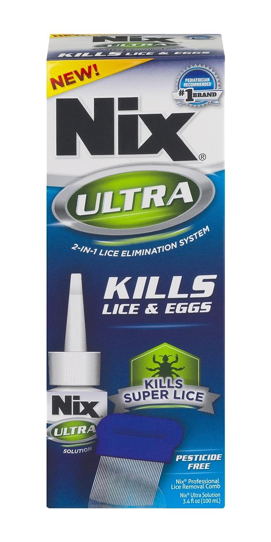 NIX Ultra Lice & Nits Treatment | Kills Super Lice & Eggs | Pesticide-Free | 3.4 FL OZ