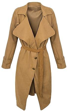 check out 3824e e0dfe Damen Trenchcoat Mantel Damen Blogger Übergangs Jacke ...