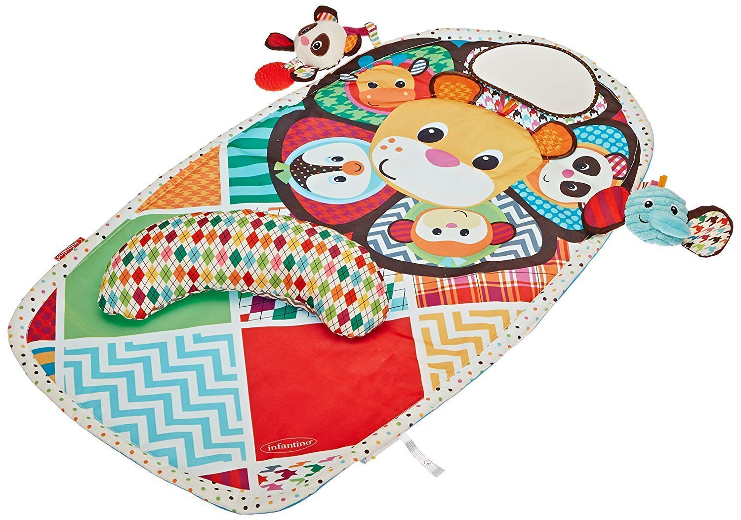 Tummy Time Mat – Baby Play Mat – Infant Toys – Tummy Time Pillow – Baby Mirror – Squishy Infant Toys – Activity Mat Babycare Playmats – Washable Baby Mat – Unisex Colors