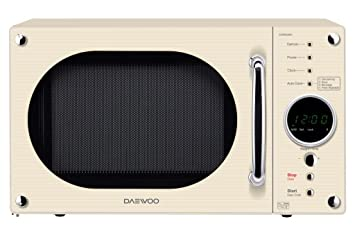KOR8A9RC - DAEWOO 800W CREAM TOUCH CONTROL MICROWAVE: Amazon.co.uk