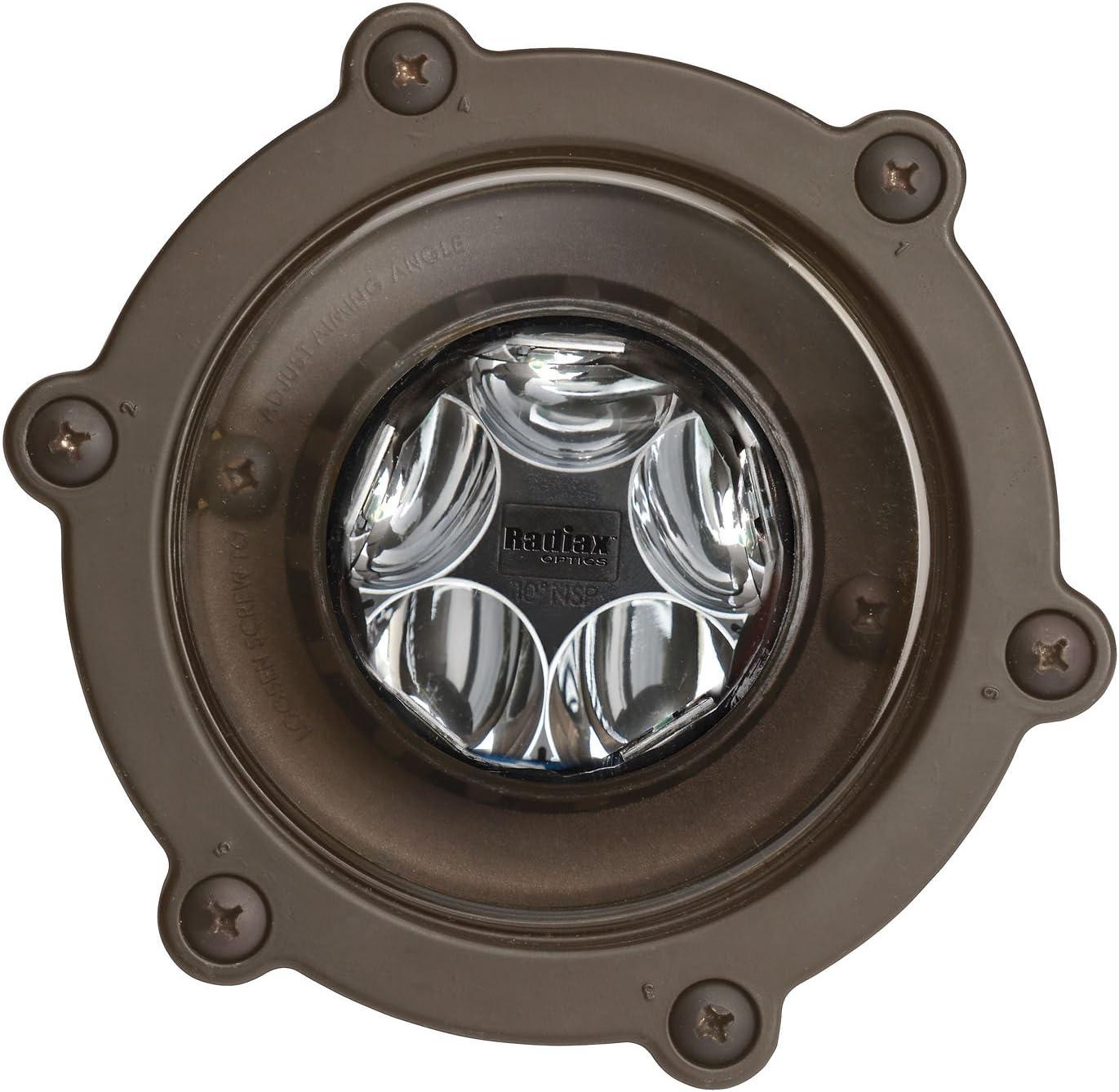 Kichler 16036BBR27 12V LED 14W 10-Degree Spot Well Light 2700K Bronzed Brass