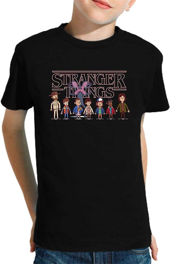 Camiseta de NIÑOS Stranger Things Once Series Retro 80 Eleven Will 043: Amazon.es: Ropa y accesorios