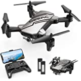 DEERC D20 Mini Drone for Kids with 720P HD FPV Camera Remote Control Toys Gifts for Boys Girls with Altitude Hold, Headless Mode, One Key Start, Tap Fly, Speed Adjustment, 3D Flips 2 Batteries