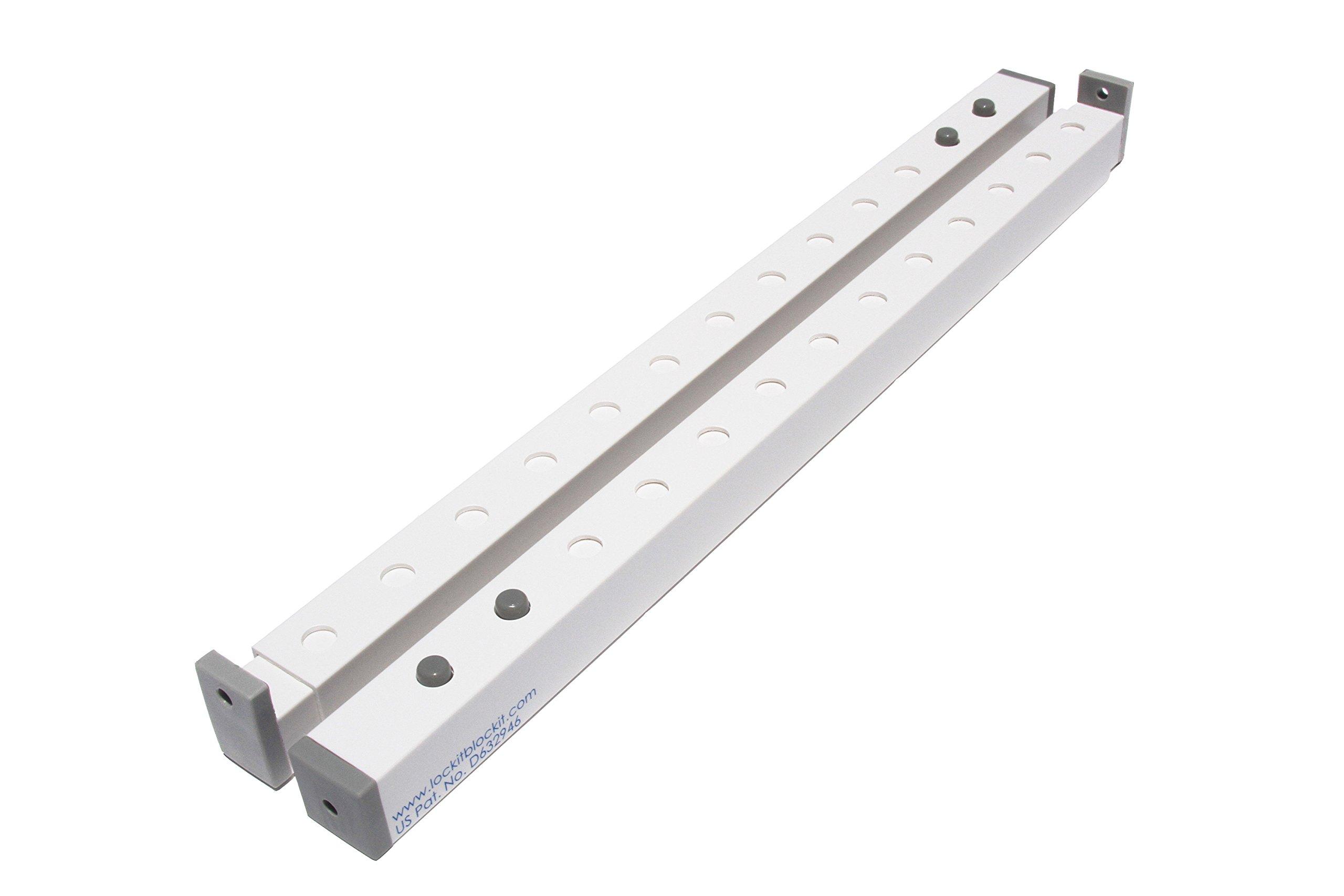 Lock-it Block-it - Home Security Window Bars - 2 Pack by Lock-it Block-it