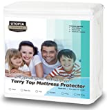 Amazon Price History for:Premium Hypoallergenic Waterproof Mattress Protector - Vinyl Free - Fitted Mattress Cover (Queen) by Utopia Bedding