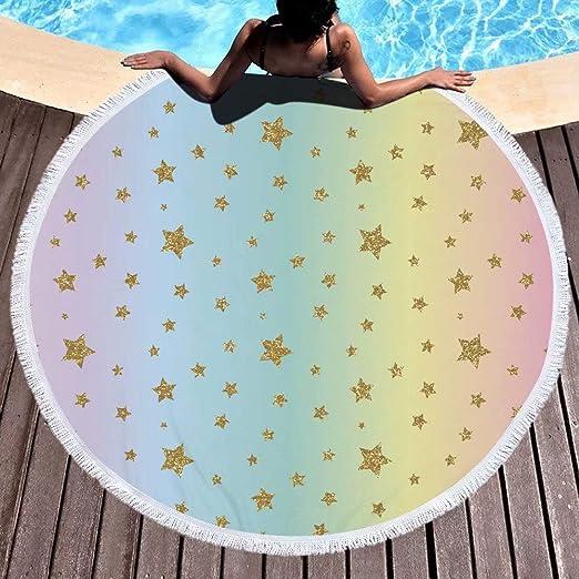 ALSTONXIN Toalla de Playa Galaxy Starry Sky Estera de Yoga ...