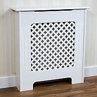 Home Discount - Mueble para radiador Oxford, Color Blanco, diseño Tradicional Pintado de MDF, tamaño pequeño