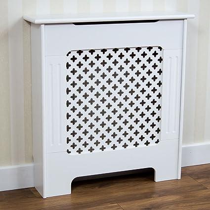 Vida Designs Oxford - Embellecedor para radiador, color blanco, pequeño, para calefacción