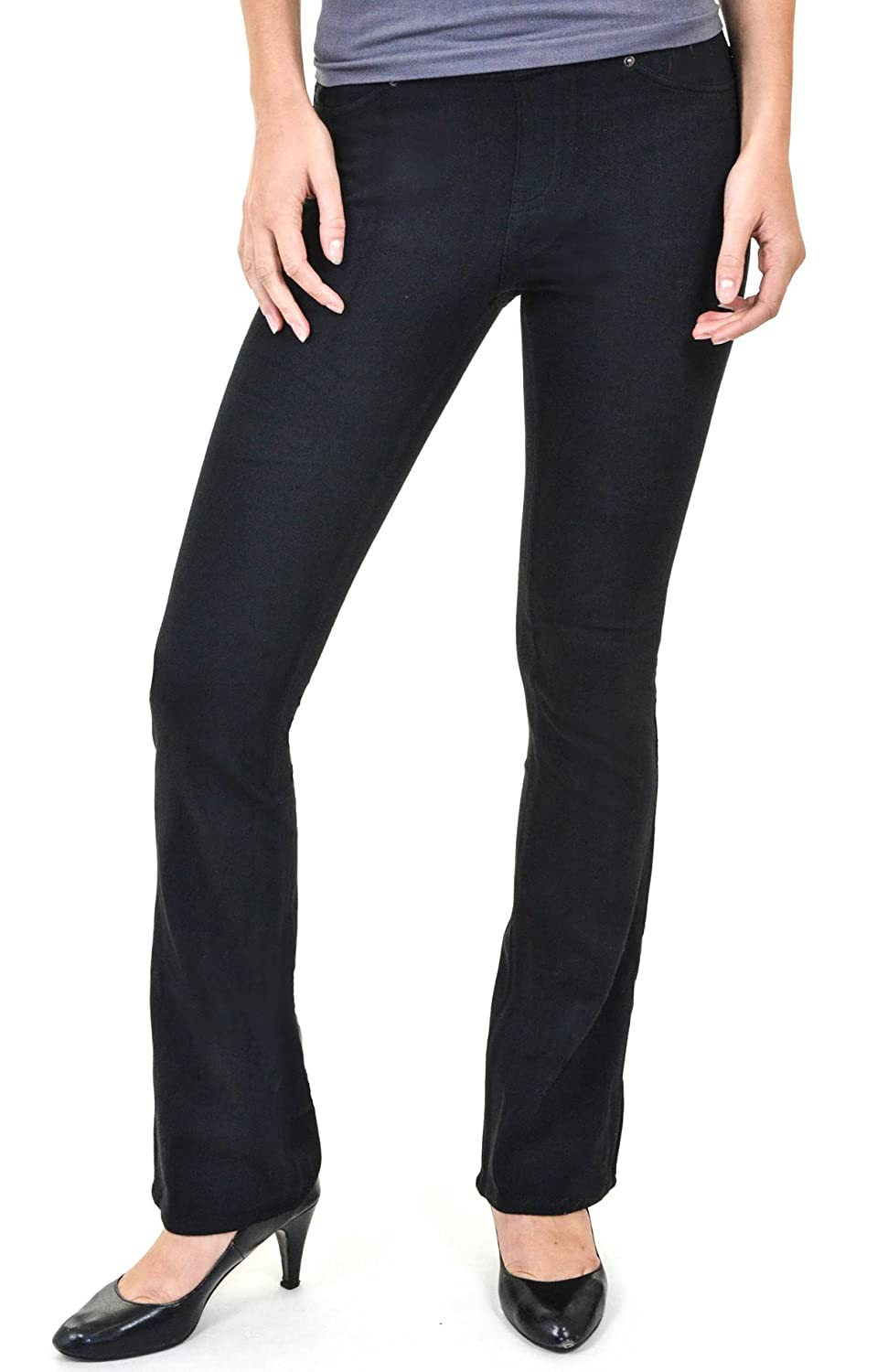5b3070e336c1d Hue The Original Jeans Boot Cut Leggings (Black, S): Amazon.ca: Sports &  Outdoors