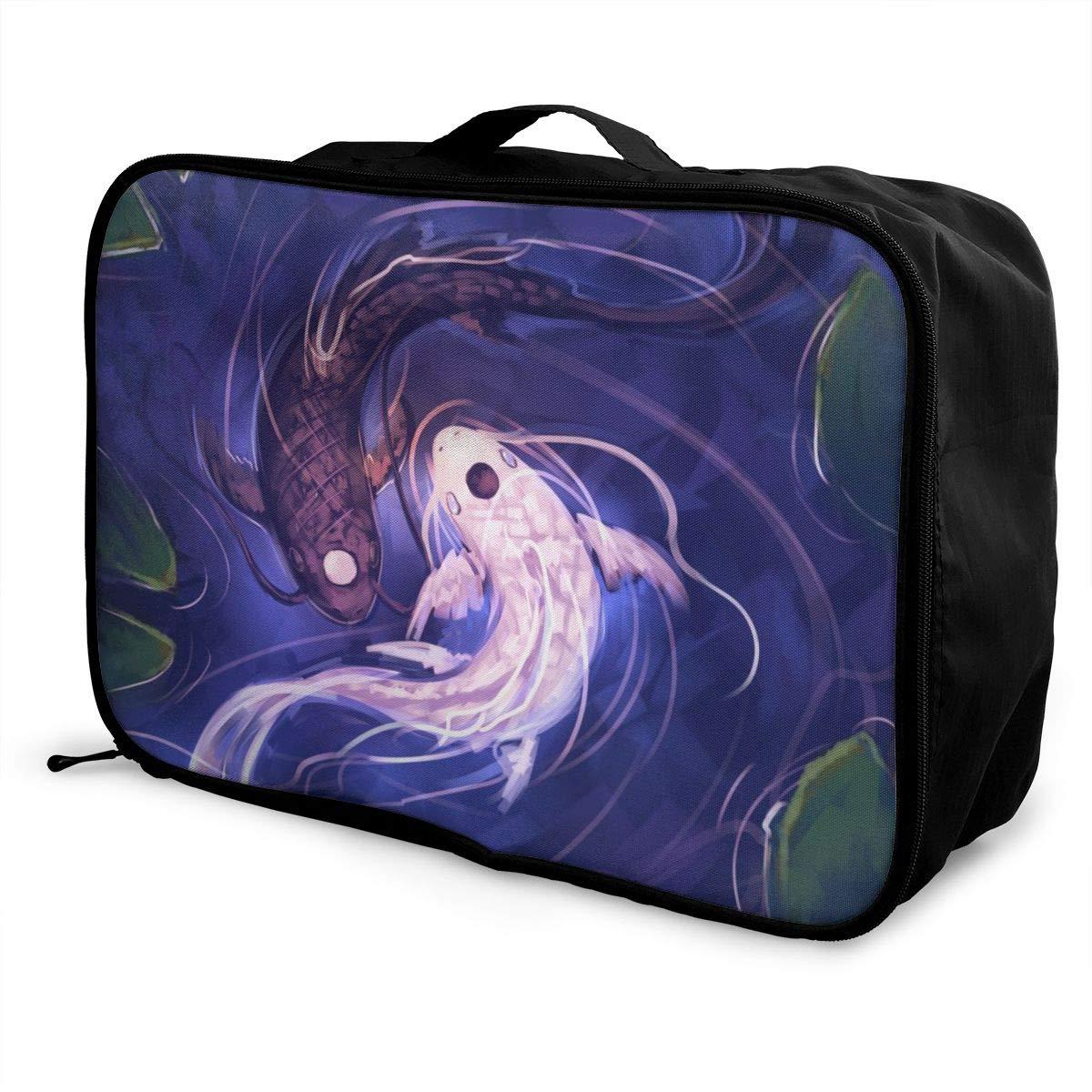 Interesting Yin Yang Fish Travel Storage Carry Luggage Duffle Tote Bag