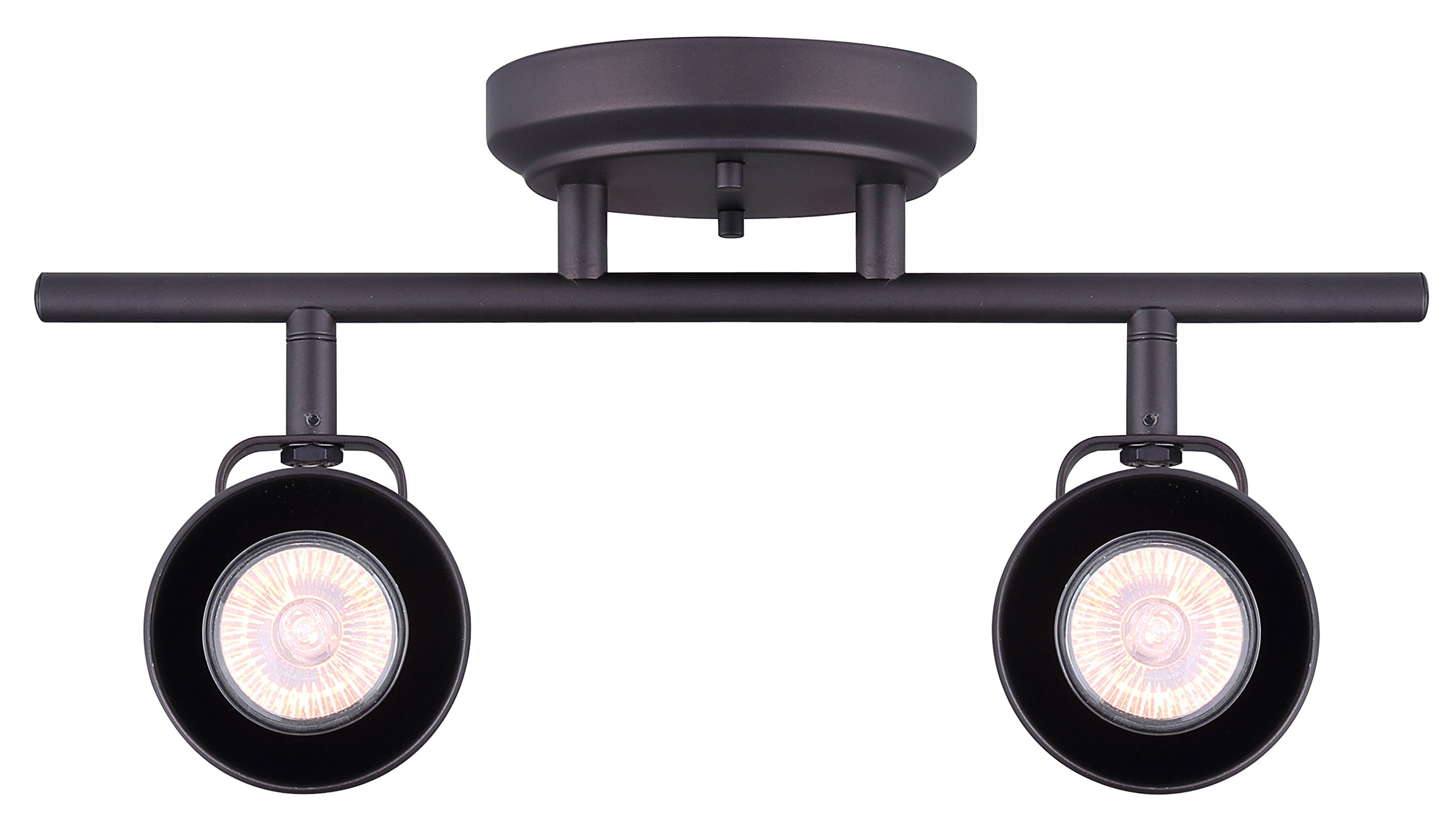 CANARM IT622A02ORB10 Ltd Polo 2 Light Track Rail Adjustable Heads, Oil Rubbed Bronze