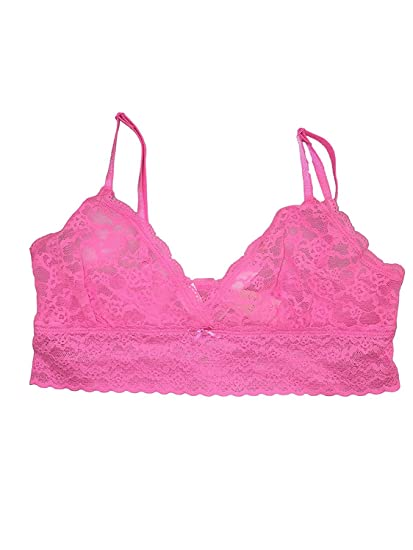 f0137a0dbfbde Image Unavailable. Image not available for. Color  Victoria s Secret Pink  Neon Pastel Pink Lace Bralette ...