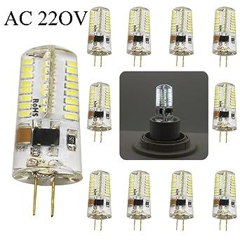 G4 AC 220 V/AC 12V 5W 400lm smd 3014 bombillas de 64-LED