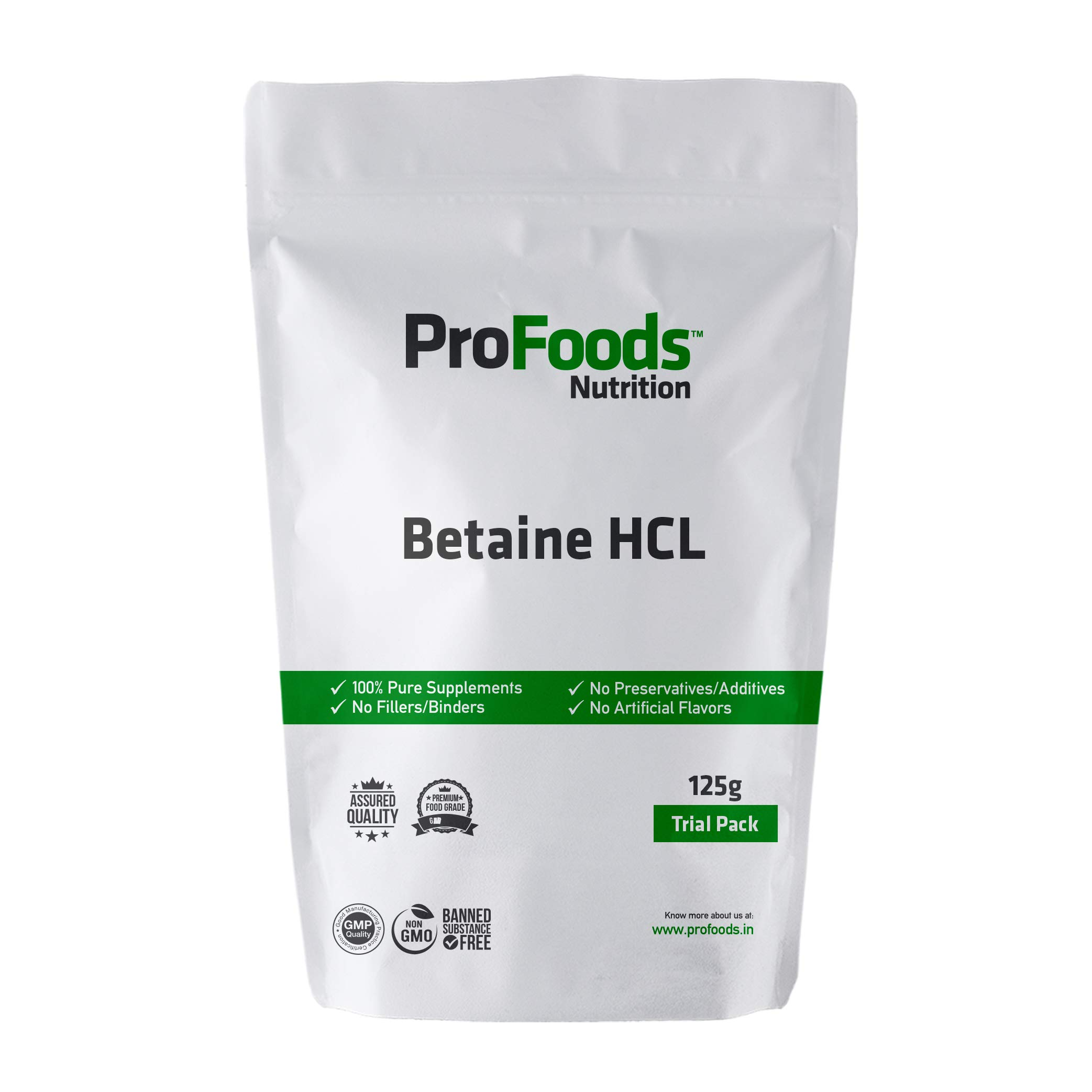 Profoods Betaine HCL Powder (Food) (125 grams)