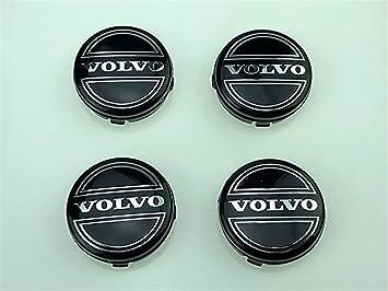guoyuanzed Juego de 4 tapacubos de Aleación para Llantas de Volvo, 64 mm, Negro, C70, S60, V60, V70, S80, XC90: Amazon.es: Coche y moto
