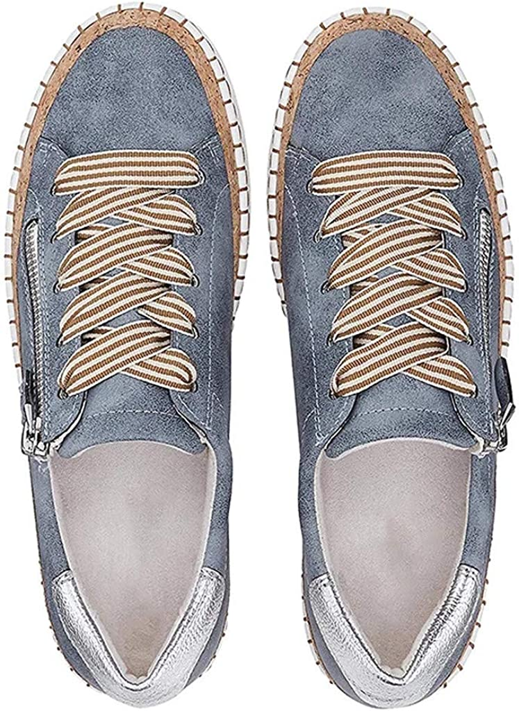 Malbaba Womens Lace Up Canvas Loafers /& Slip-Ons Flats Driving Walking Casual Soft Sole Shoes