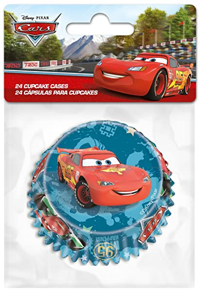 Cars Papel para Magdalenas Cupcake Forma 24 Unidades