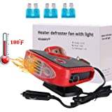 Windshield Car Heater - Portable Car Defroster Defogger 12V Truck Car Heat Cooling Fan 150W 3-Outlet Plug in Cigarette Lighter