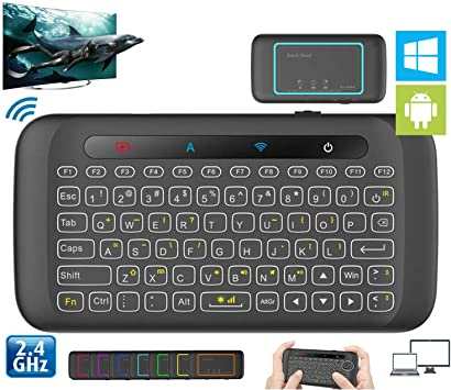 Leoie Mini Teclado Inalámbrico Portátil Touchpad para Android Smart TV Box Escritorio PC: Amazon.es: Electrónica