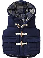 Boys Lightweight Soft Warm Hooded Utility Padded Puffer Bubble Vest Winter Jacket