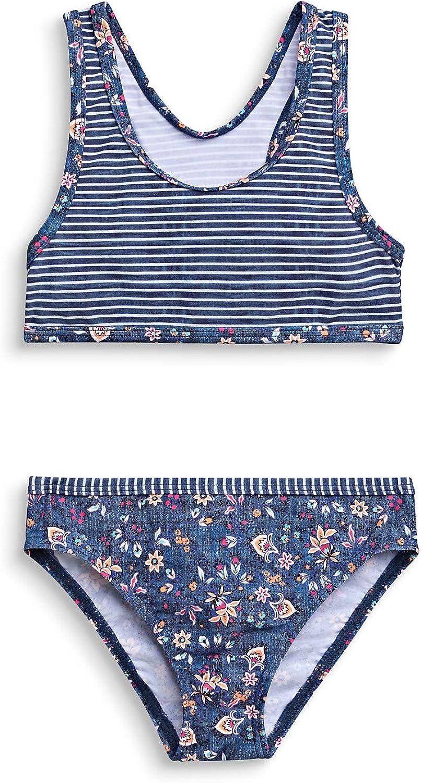 ESPRIT M/ädchen Long Beach Mg Bustier+Brief Bikini-Set