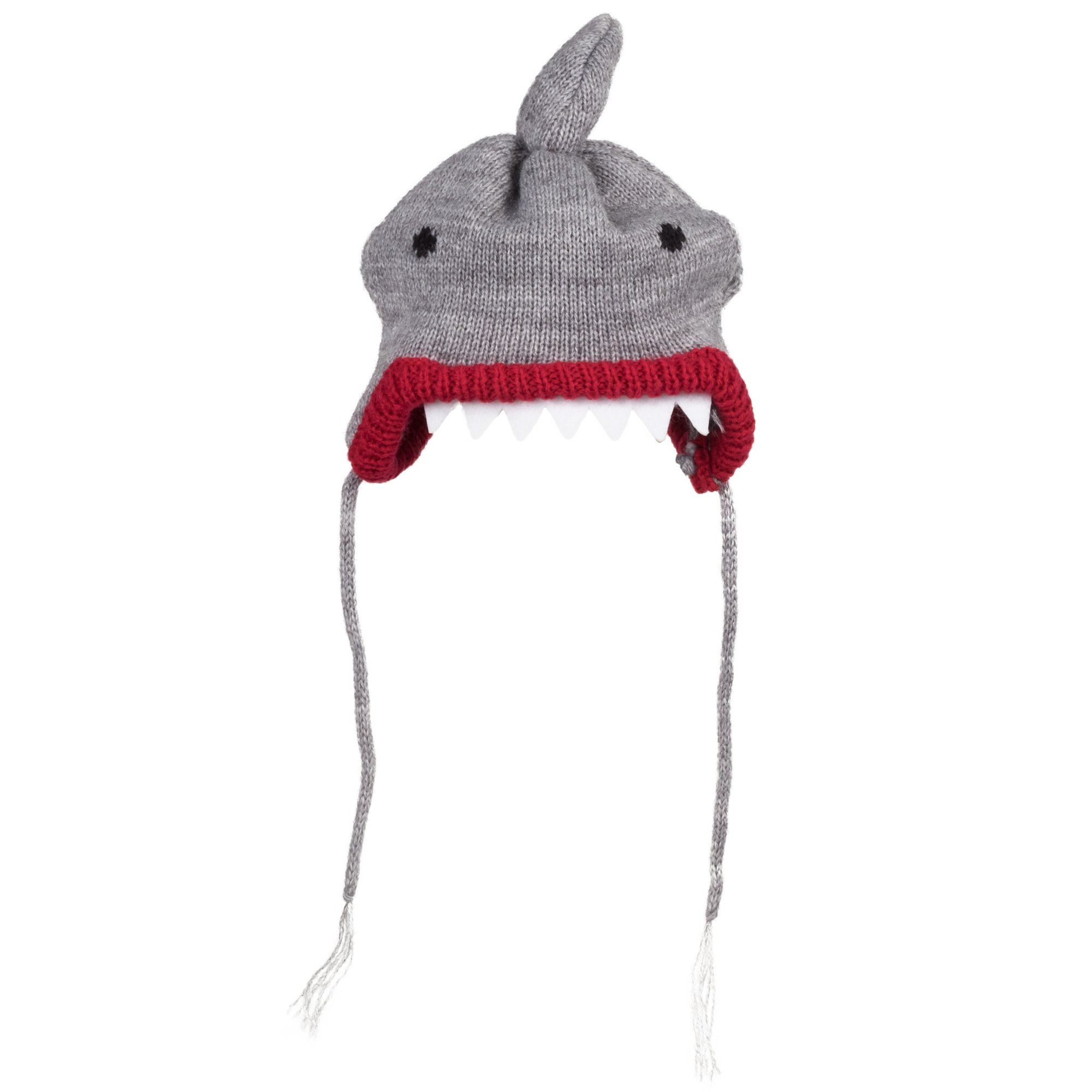 The Worthy Dog Shark Hat for Dogs, Large, Gray
