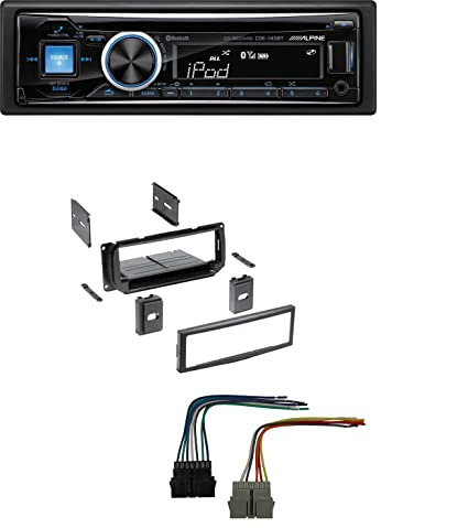 amazon com new car stereo radio kit dash installation mounting trim rh amazon com Alpine CDE-143BT Plugs Alpine CDE-143BT Remote Control