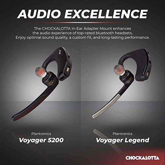 57e0ad503bc Amazon.com: CHOCKALOTTA 1-Pack in-Ear Tip Adapter Mount for Plantronics  Voyager 5200 & Voyager Legend Headset (Includes 3-Piece S/M/L Silicone Ear  Tips): ...