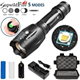 5000 LM Anglewolf-SupwildFire Flashlight,5 Mode Cree XM-L T6 X800 Tactical LED Military Torch Kits