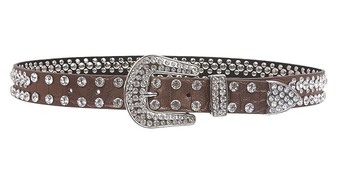 Amazon.com: Cinturón para niños de 1.063 in con pedrería de ...
