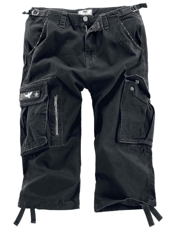 Schwarz Premium by EMP 3 4 Army Vintage Shorts Short schwarz