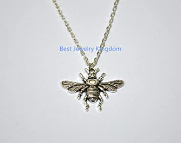 success luck gold silver mantra bee sterling necklace and bumblebee bumble