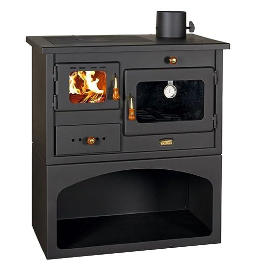 Estufa a leña cocina de leña con horno de acero Pisa 14 Kw doble ...