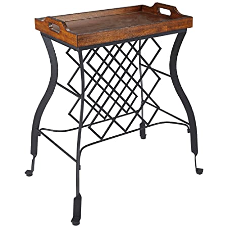 Silverwood FS1135-COM Hawthorne Console Table and Wine Rack, 15 L x 24 W x 30 H
