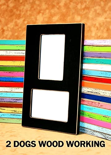 Amazoncom Collage Picture Frame Holds 2 4x6 Vertical Horizontal