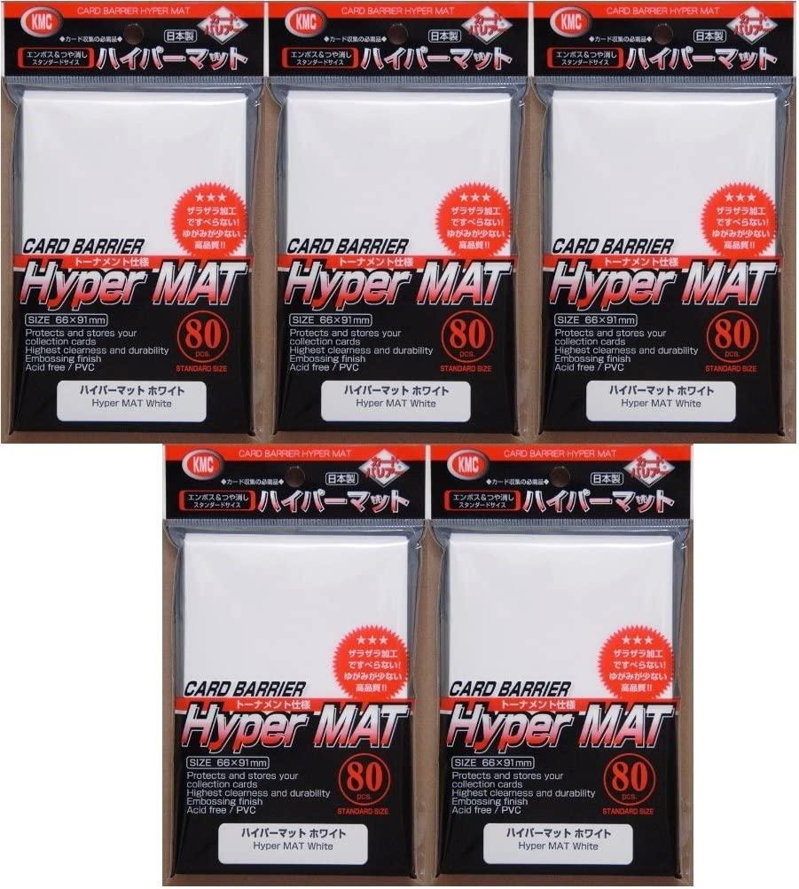 Black 400 Pack KMC Hyper Matte Sleeves