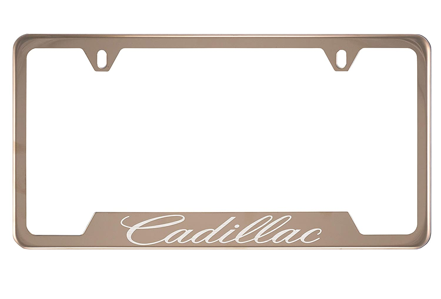 Cadillac Mirror Champagne Gold License Plate Frame (Zinc) PCR