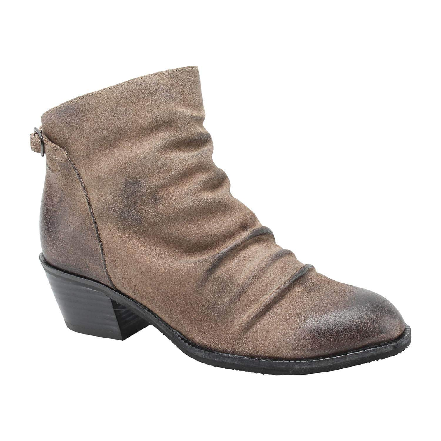 Grey Antelope Women's 411 Suede Gathered Mini Buckle