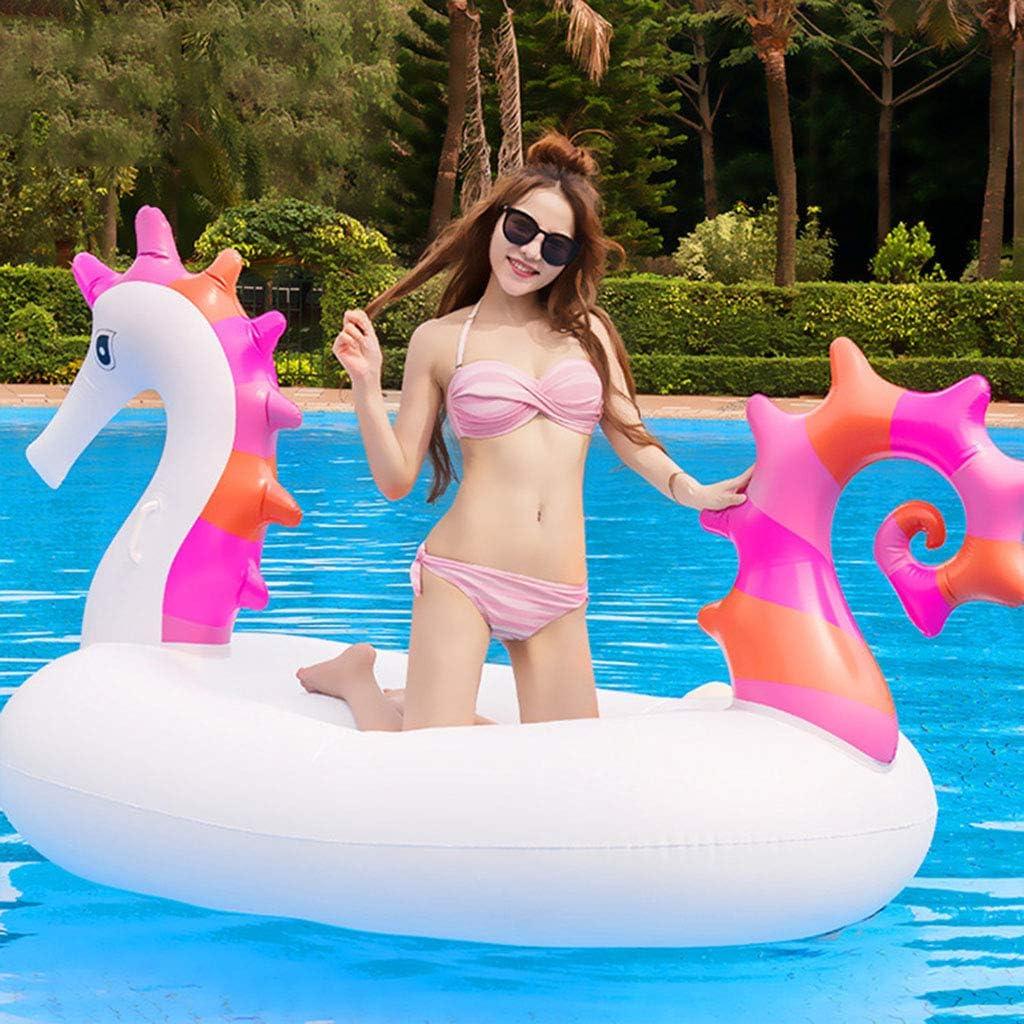 LCYCN Flotador Juguete Hinchable para Piscina,230cm Gigante de Caballito de mar Inflable Piscina Flotador-Fiesta de Agua Juguetes Divertidos-Ride-on Aire colchón Tumbona natación Anillo